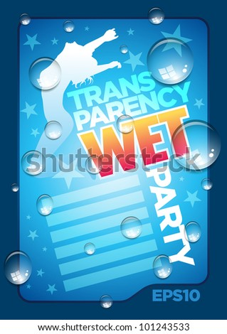 vector wet poster template