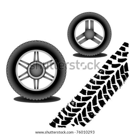 Vector wheel and tire