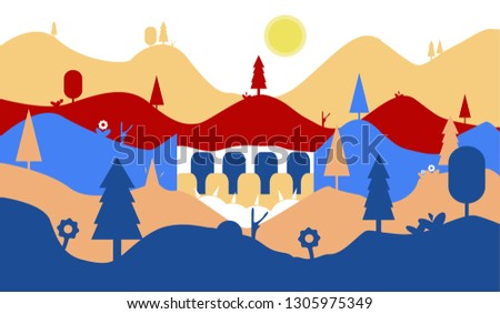vector which includes mountains