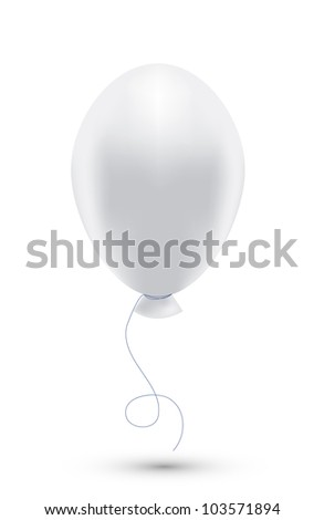 Vector white balloon isolated on white. Eps10