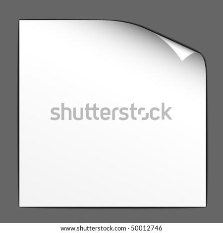 vector white bended paper