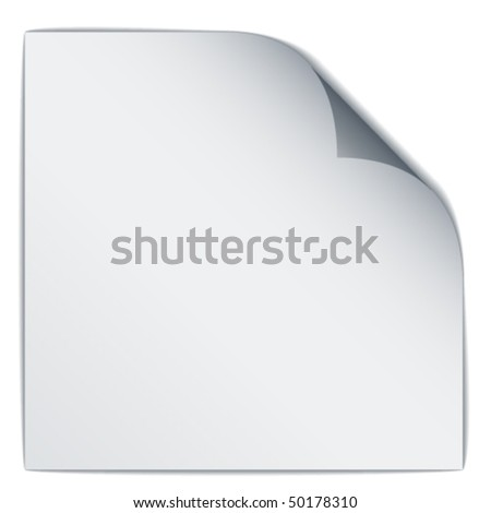 vector white bended paper