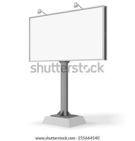 vector white billboard screen