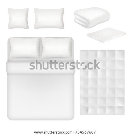vector white blank bedding set