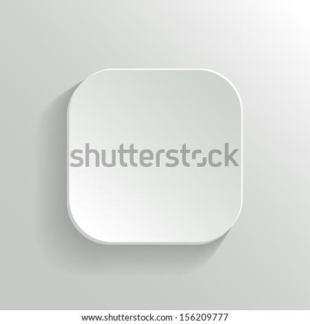 Vector White Blank Button - App Icon Template