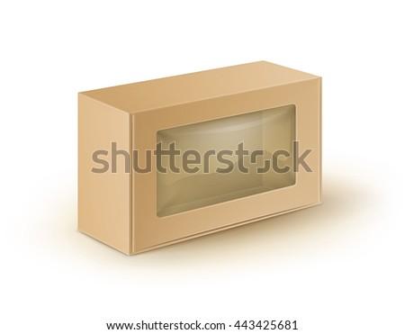 vector white blank cardboard