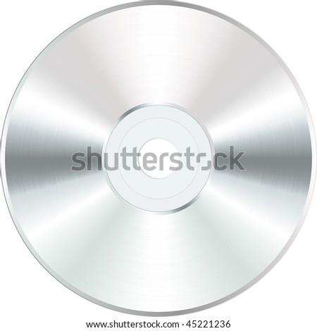 vector white blank CD or DVD disc