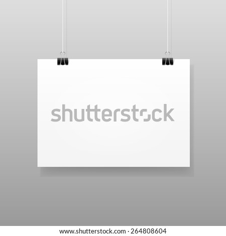 vector white blank paper wall
