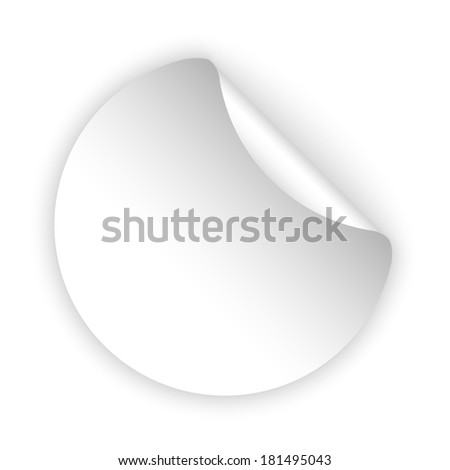 vector white blank template sticker with light shadow