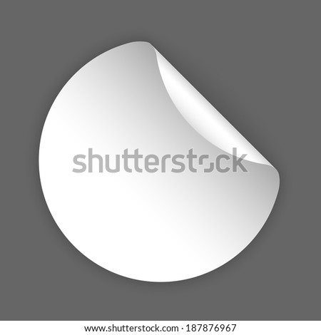 vector white blank template sticker with light shadow #187876967