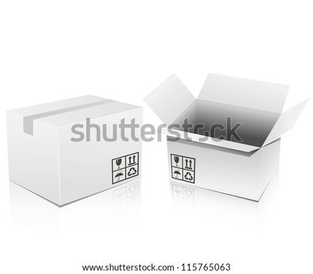 vector white boxes