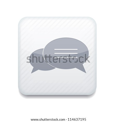 Vector white Bubble speech icon. Eps10. Easy to edit