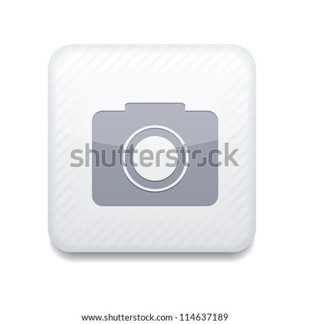 vector white camera icon eps10