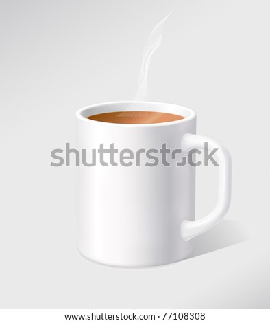 Vector white cup