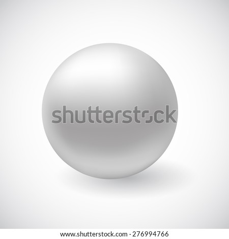 Vector white 3D sphere