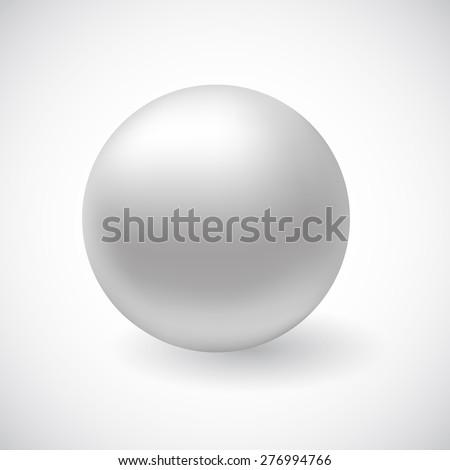 Stock Photo Vector white 3D sphere
