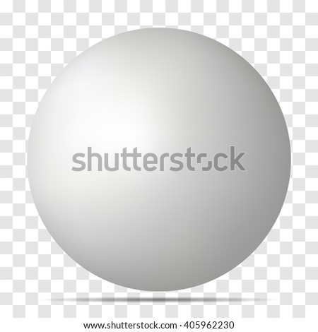 Vector white 3D sphere with realistic shadow and light for logo, design concepts, web, presentation?. 3D Vector illustration on transparent background. Simple Template Ball for your Mock-Up Design