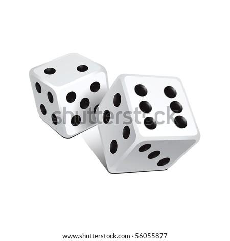 Vector white dice
