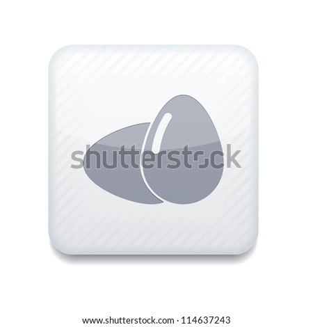 Vector white eggs icon. Eps10. Easy to edit