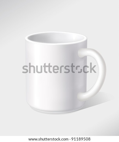 Vector white empty cup