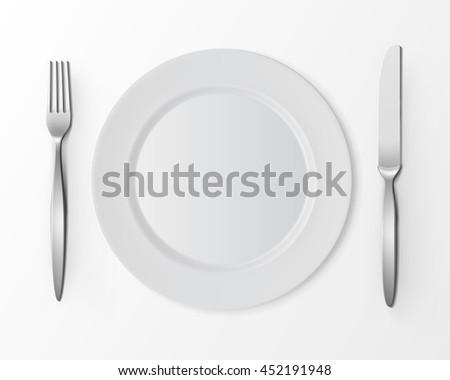 Flat Dinner Table Setting Vector - Download Free Vector Art, Stock ...