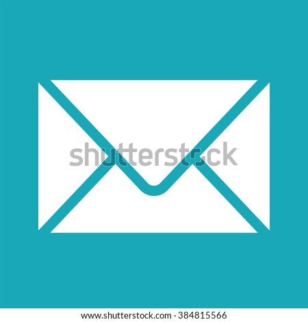 Vector white envelope icon. Image for print, web. Envelope icon for apps. Vector graphic design element. Envelope icon isolated on white background. Clipart.