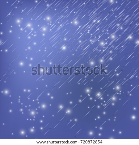 vector white falling star on