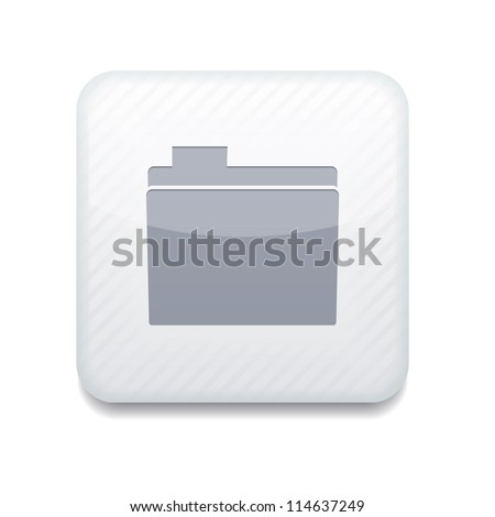 Vector white folder icon. Eps10. Easy to edit