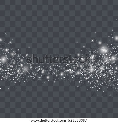 vector white glitter particles