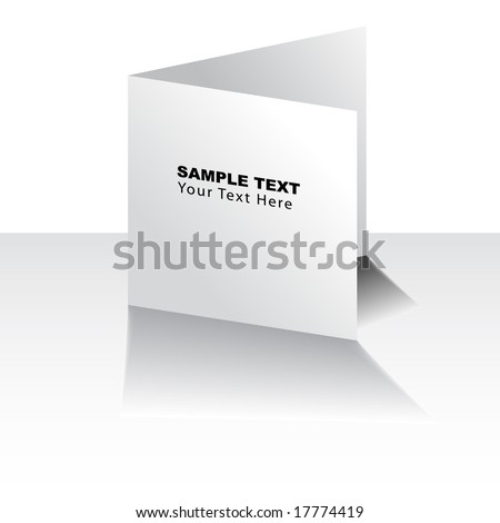 Vector - White greeting card for christmas, birthday or weddings