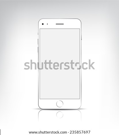 vector white iphone with blank