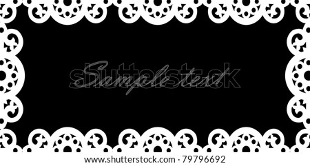 vector white lace texture
