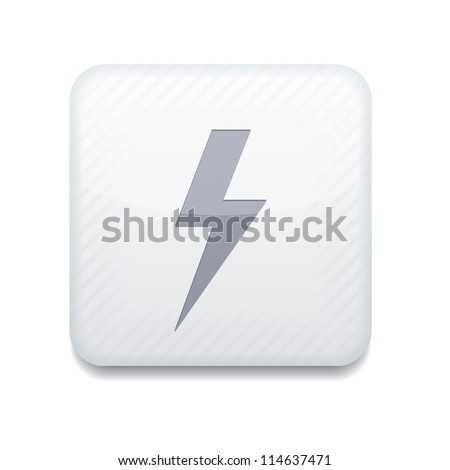 Vector white  lightning icon. Eps10. Easy to edit - stock vector
