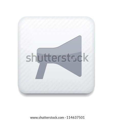 Vector white  loudspeaker icon. Eps10. Easy to edit