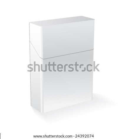 Vector white pack of cigarettes