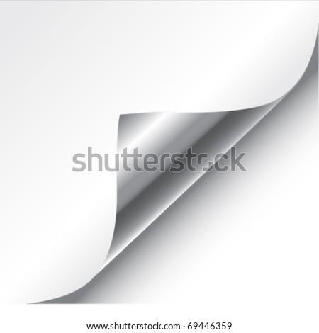 Vector white page corner