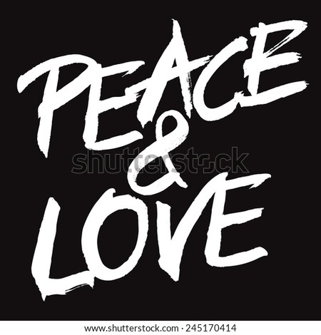 vector white painted sign peace