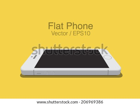 vector white phone  on the
