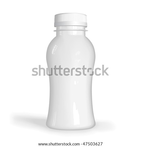 VECTOR white plastic bottle
