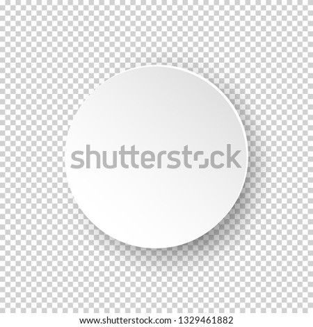 Vector white realistic round empty frame on transparent background  #1329461882
