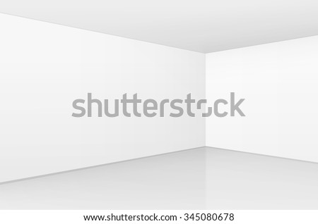 vector white room interior in