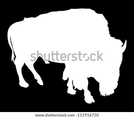 vector white silhouette of the