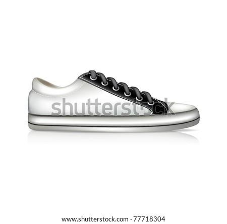 Vector white sneaker