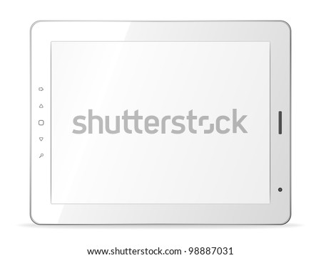 Vector white tablet pc on white background. Eps8 only - stock vector