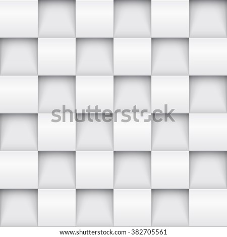 stock vector vector white tile pattern panel background seamless geometric twisted design d texture interior 382705561 - Каталог — Фотообои «3D Текстуры»
