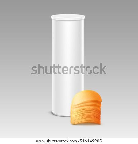 vector white tin box container