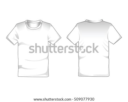 vector white tshirt isolated on