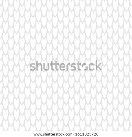 Vector White Valentine Hearts on Gray Background Seamless Repeat Pattern. Background for textiles, cards, manufacturing, wallpapers, print, gift wrap and scrapbooking.