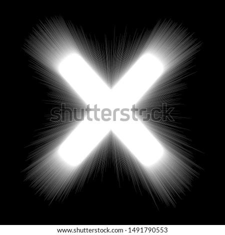 vector white x cross frame