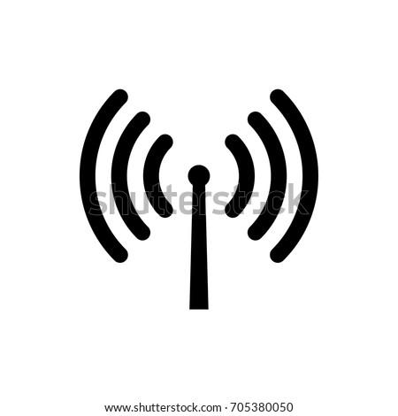 Vector wifi signal antenna icon.